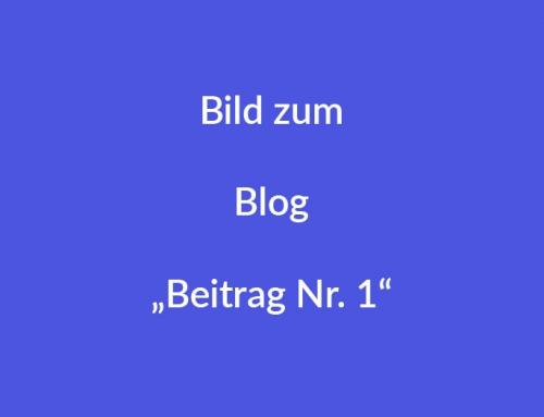 Blog Beitrag 01